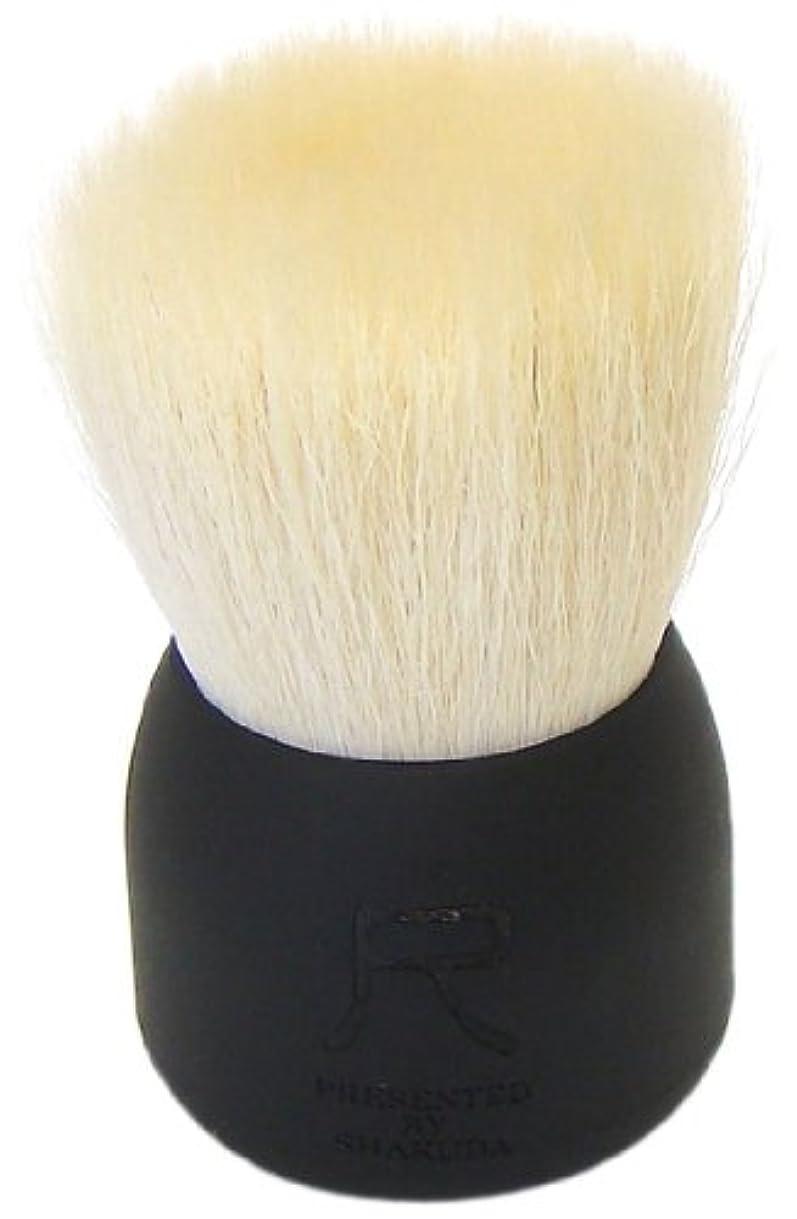 辛い迷彩意見熊野筆 尺 PRESENTED BY SHAKUDA 洗顔ブラシ(黒)