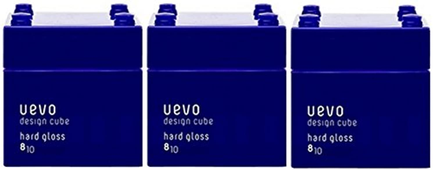 進むあえてルー【X3個セット】 デミ ウェーボ デザインキューブ ハードグロス 80g hard gloss DEMI uevo design cube