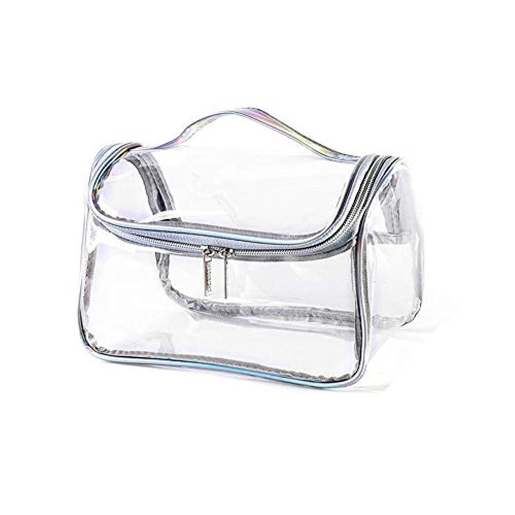 どっち連隊外部化粧ポーチ 化粧バッグ 透明 クリアポーチ おしゃれ メイクポーチ コンパクト 化粧品 コスメ収納 旅行用 携帯用 透明ポーチ 小物入れ 普段使い 出張 旅行 メイク ブラシ バッグ