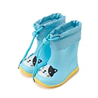 [美しいです] 女の子 レインブーツ 長靴 男の子 レインシューズ 子供用 雨靴 写真色I24