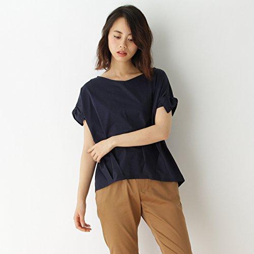 (クチュールブローチ) Couture Brooch 袖口リボンカットソー 50813171 38(M) ブルー系(095)
