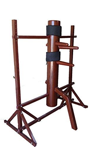 AUGUSTAPRO 詠春拳 木製 ダミー 木人椿 - 伝統的イップ・マンの木製ダミー 無料の殴打保護パッド付き