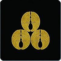 家紋 マウスパッド 三つ盛り抱き茗荷紋 15cm x 15cm KM15-1470