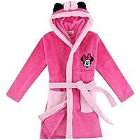 "Xfounder Ultra Soft Children Hooded Bathrobe Thick Flannel Robe Cartoon Animal Plush Robe Rosy Minnie S/125 /Height:47-51"" /5T-6T"