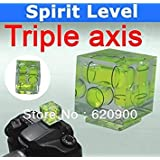 Triple 3 Axis Bubble Spirit Level On Camera Hot Shoe 3D