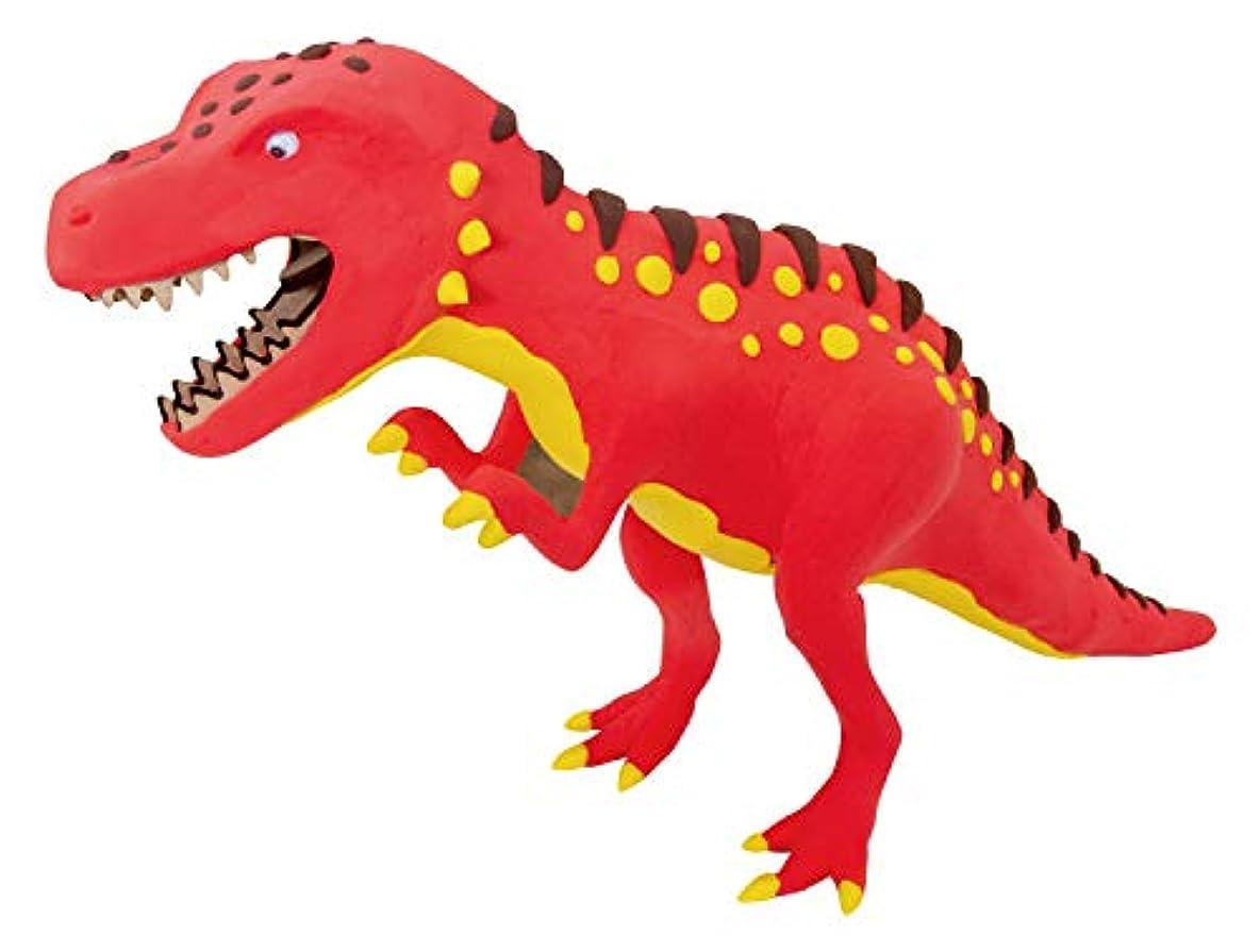 CLAYDECO ティラノサウルス 恐竜 DIY 3D 木製パズルと粘土成形キット