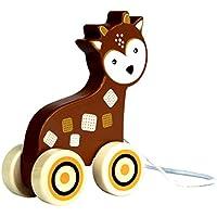 Applesauce木製プルおもちゃ幼児開発教育赤ちゃんおもちゃ PULLTOY