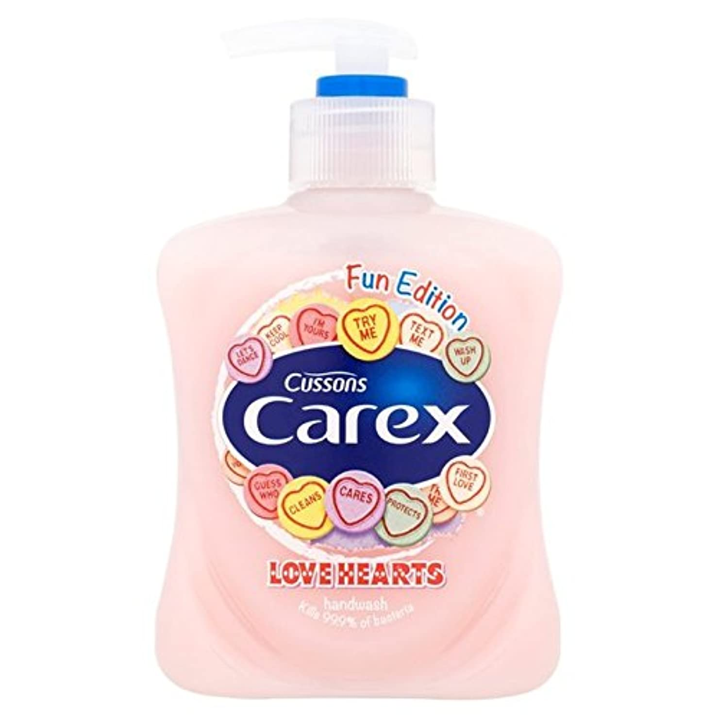 満足させる手紙を書くブルジョンスゲ楽しい版愛の心のハンドウォッシュ250ミリリットル x4 - Carex Fun Edition Love Hearts Hand Wash 250ml (Pack of 4) [並行輸入品]
