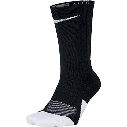 ナイキ(NIKE) エリート バスケットボール クルー ソックス 1.5 SX5593 013 ブラック/ホワイト 27-29cm