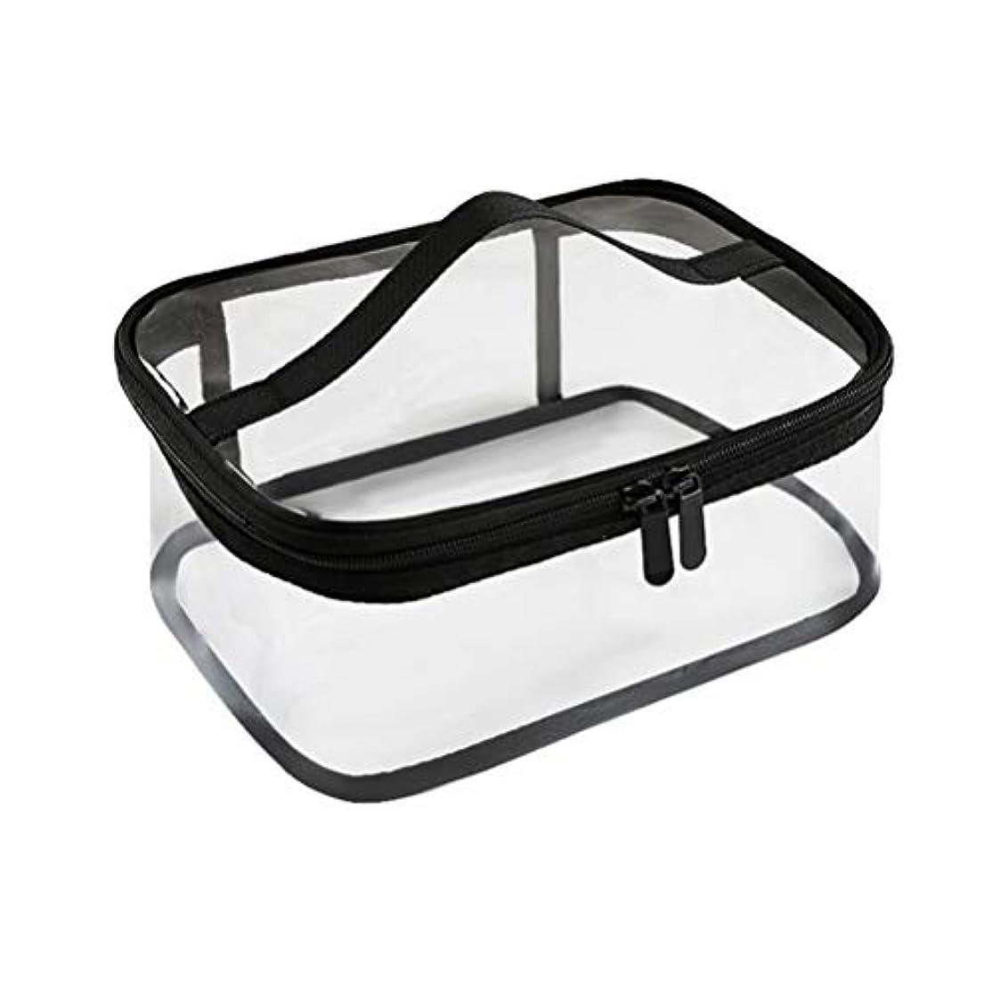 食い違いオペラケントジッパー防水透明旅行収納ポーチ付きポータブルクリアメイクバッグ