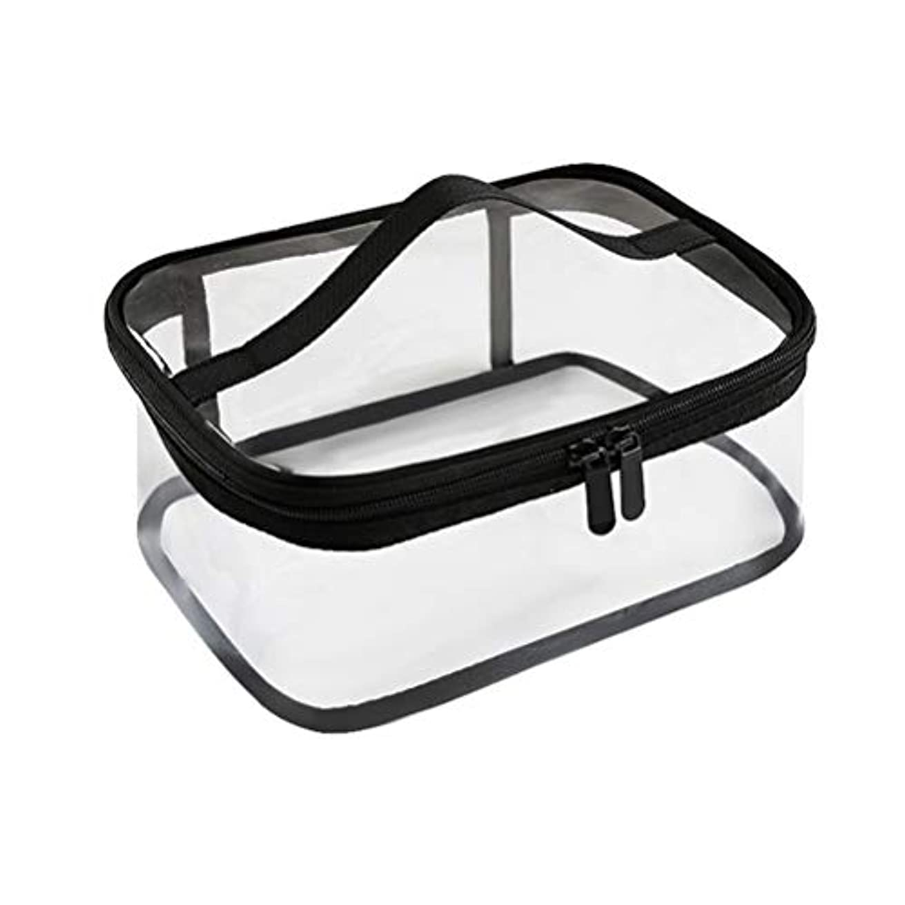 なぜベジタリアン敬なジッパー防水透明旅行収納ポーチ付きポータブルクリアメイクバッグ