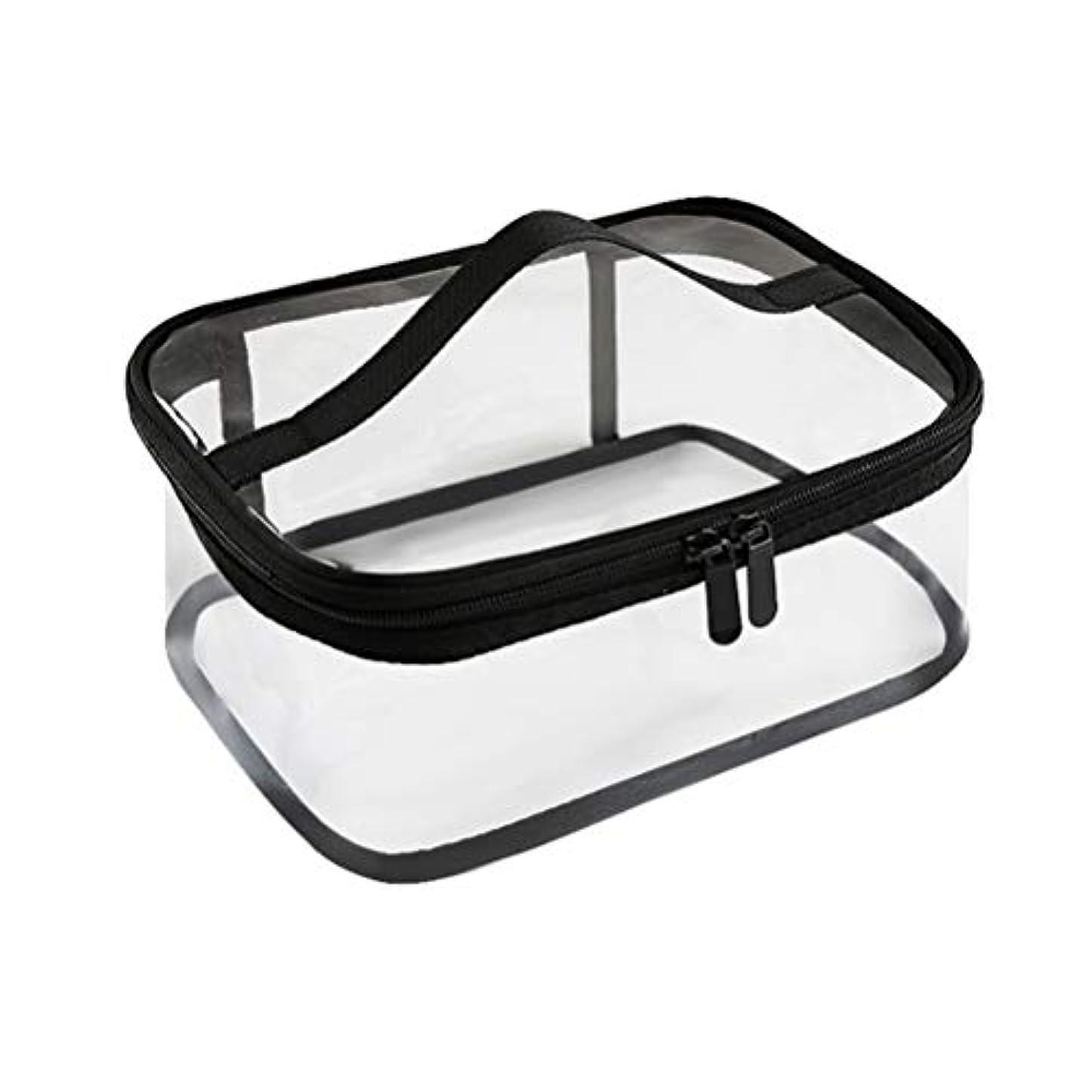 ジッパー防水透明旅行収納ポーチ付きポータブルクリアメイクバッグ