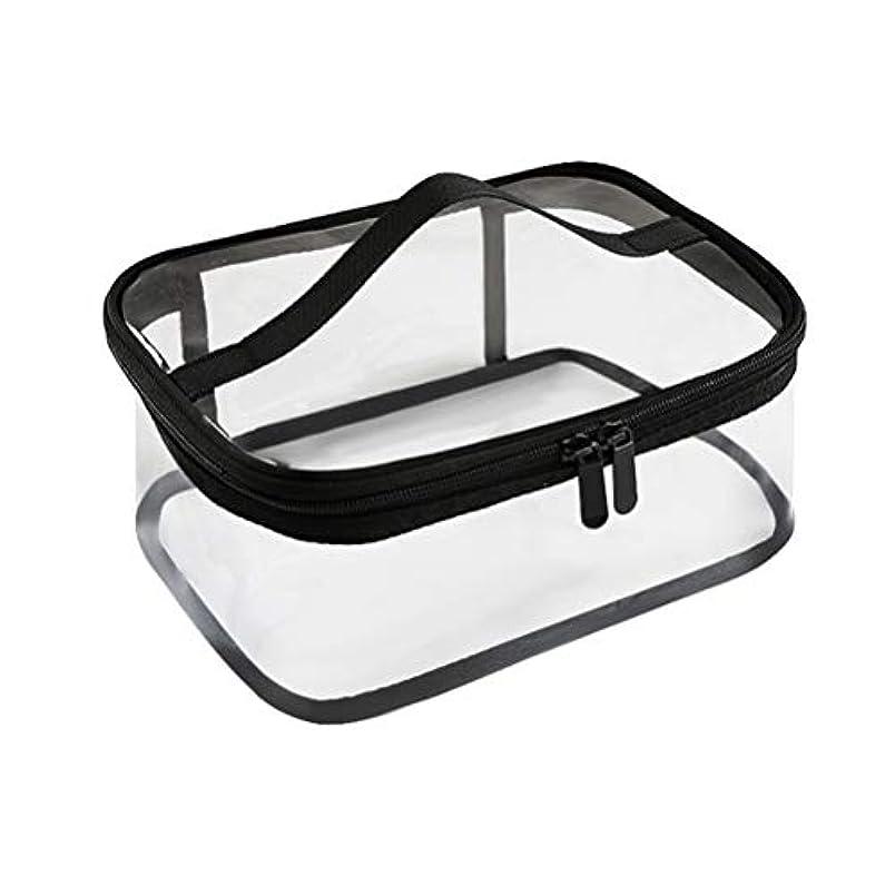 黒くする自動化マークジッパー防水透明旅行収納ポーチ付きポータブルクリアメイクバッグ