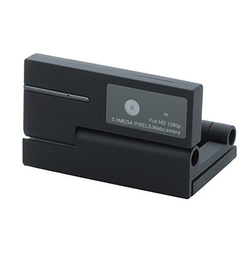 エレコム WEBカメラ 500万画素 マイク内蔵 MAC対応 FULLHD対応 ブラック UCAM-DLI500TNBK