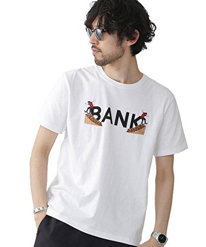 (ナノ・ユニバース) nano・universe BANKカレッジクルーTシャツ SS L ホワイト 9999171110093