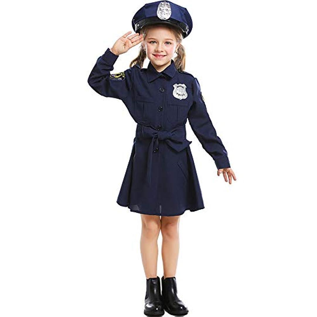 劇場過ちパプアニューギニアコスプレ衣装 可愛いポリス コスチューム ハロウィン 衣装 女の子 婦警 ワンピース 警官 制服 (A1, XS)