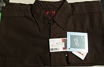 カセヤマ 鳶ブランド 手甲シャツ4L寸とB-3の3L寸 こげ茶の2点セット 定番88シリーズ