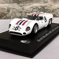 LEO 1/43 スケール車モデル玩具1965マセラティティポ 65 24 時間デュマン #8 レーシングカーダイキャスト金属モデルグッズギフト?コレクション