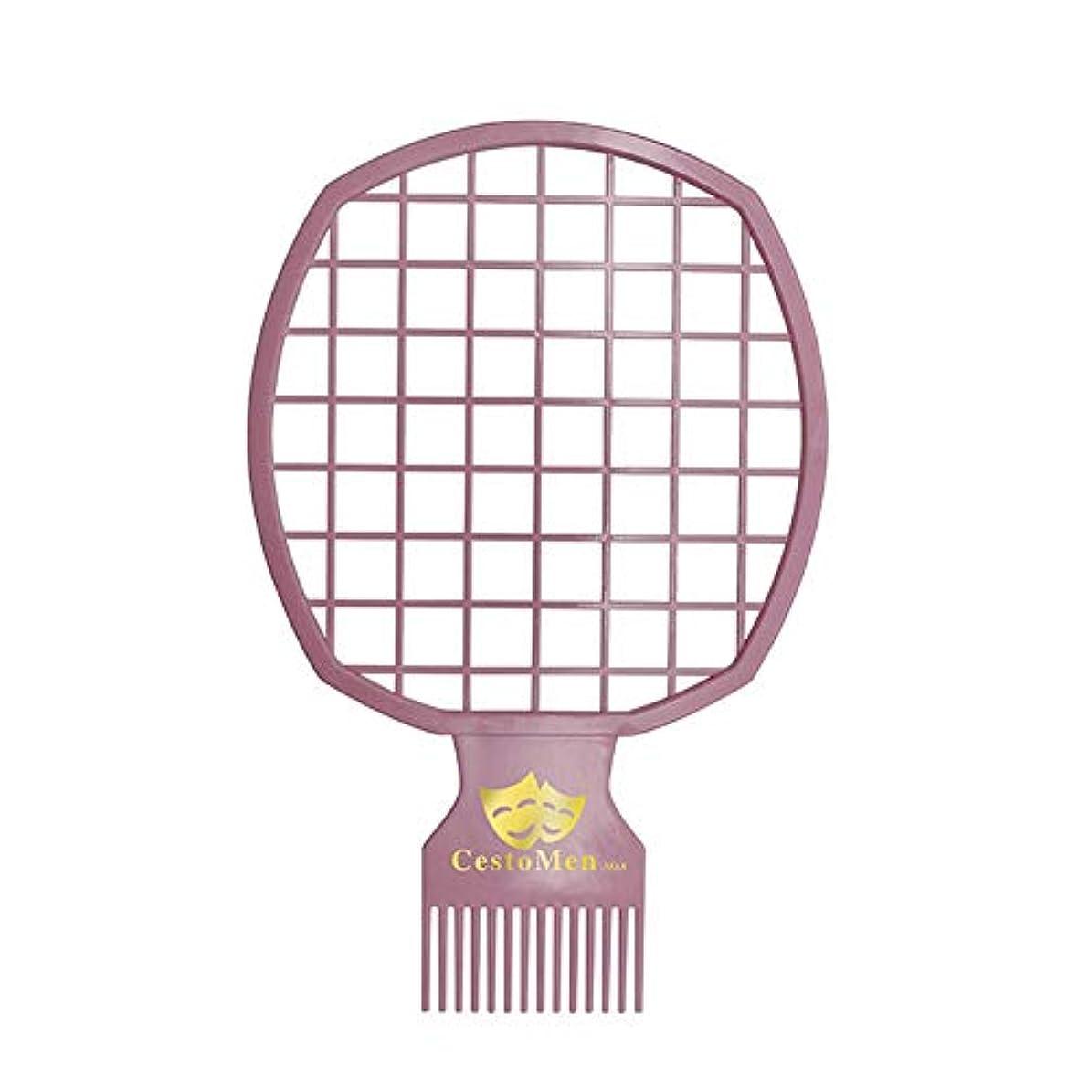 アロングマリナードナーACHICOO ヘアコーム 2 in 1 多機能 アフロツイスト 理髪 アフロコーム ツイストウェーブ カール ブラシ コーム 男性 メンズ  ピンク