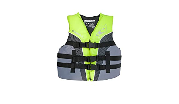 ONeill Superlite Youth USCG Life Vest Lime//Graphite//Smoke 4725
