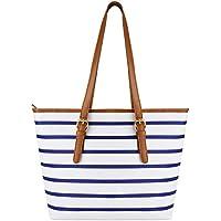 Coofit Adult Beach Bag, Stripes Summer Purse Tote Shoulder Bag
