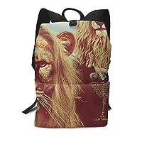 バックパックリュックサックラップトップバッグ 大容量 カジュアルバッグ ライオンの頭 夫婦 旅行バッグ 通学用