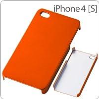レイ・アウト iPhone4/4S ケース ハードコーティング シェルジャケット/オレンジ RT-P4C3/O