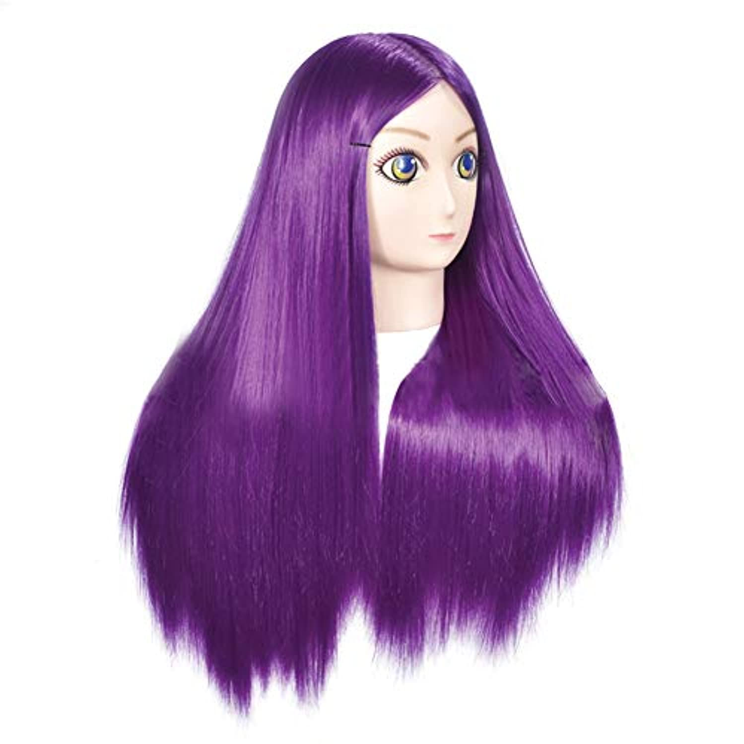 敗北美徳あそこ高温シルクヘアスタイリングモデルヘッド女性モデルヘッドティーチングヘッド理髪店編組髪染め学習ダミーヘッド