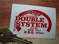 Double System Suspension Red & Clear Sticker ダブルシステム ステッカー シール デカール レッド&クリア 70mm × 48mm [並行輸入品]