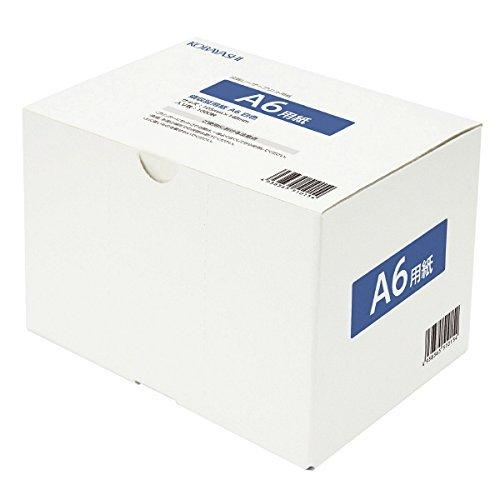 小林クリエイト 領収証用紙 A6 1面/穴なし 白色 1箱1000枚
