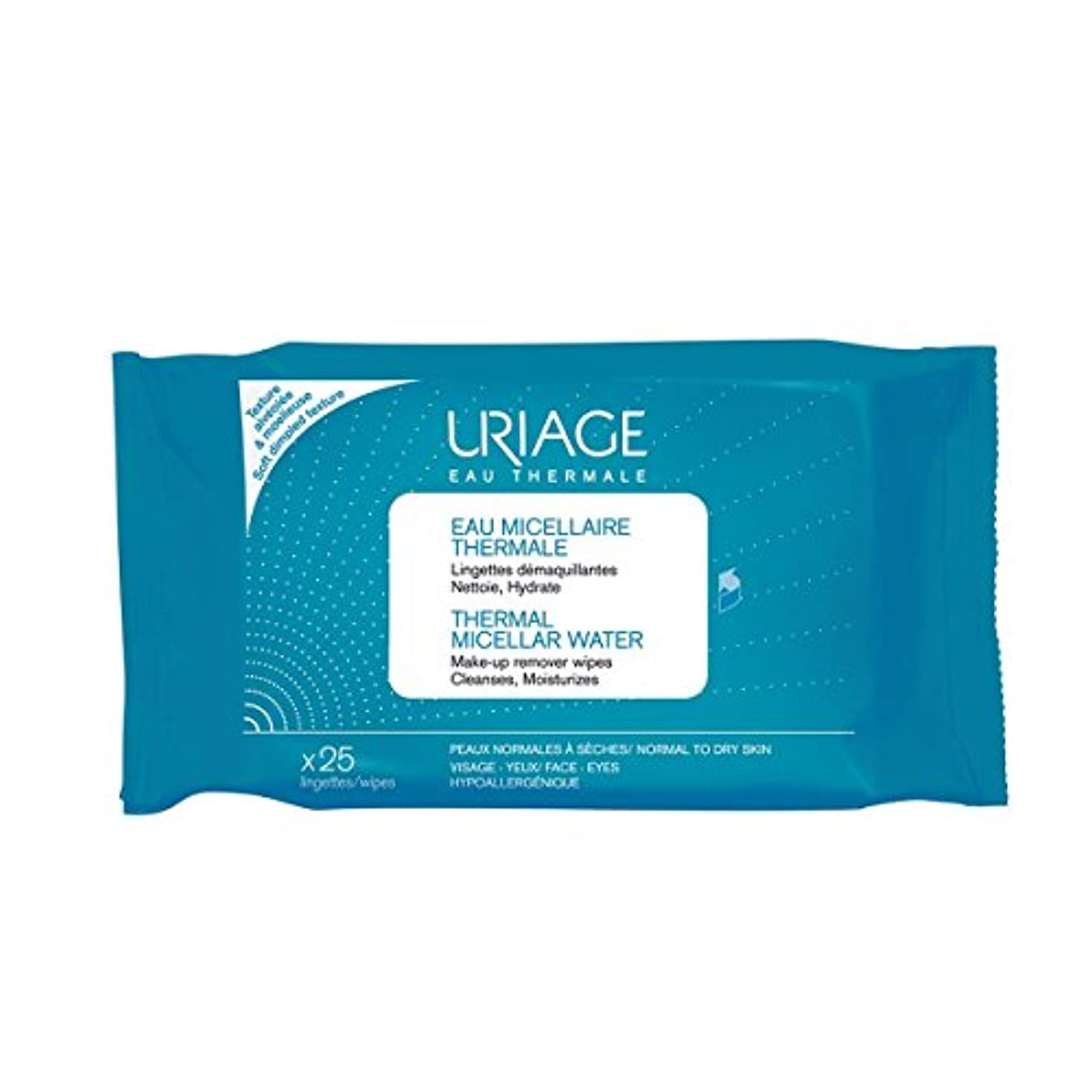 意気消沈した入浴ラオス人Uriage Thermal Micellar Water Make-up Remover Wipes X25 [並行輸入品]