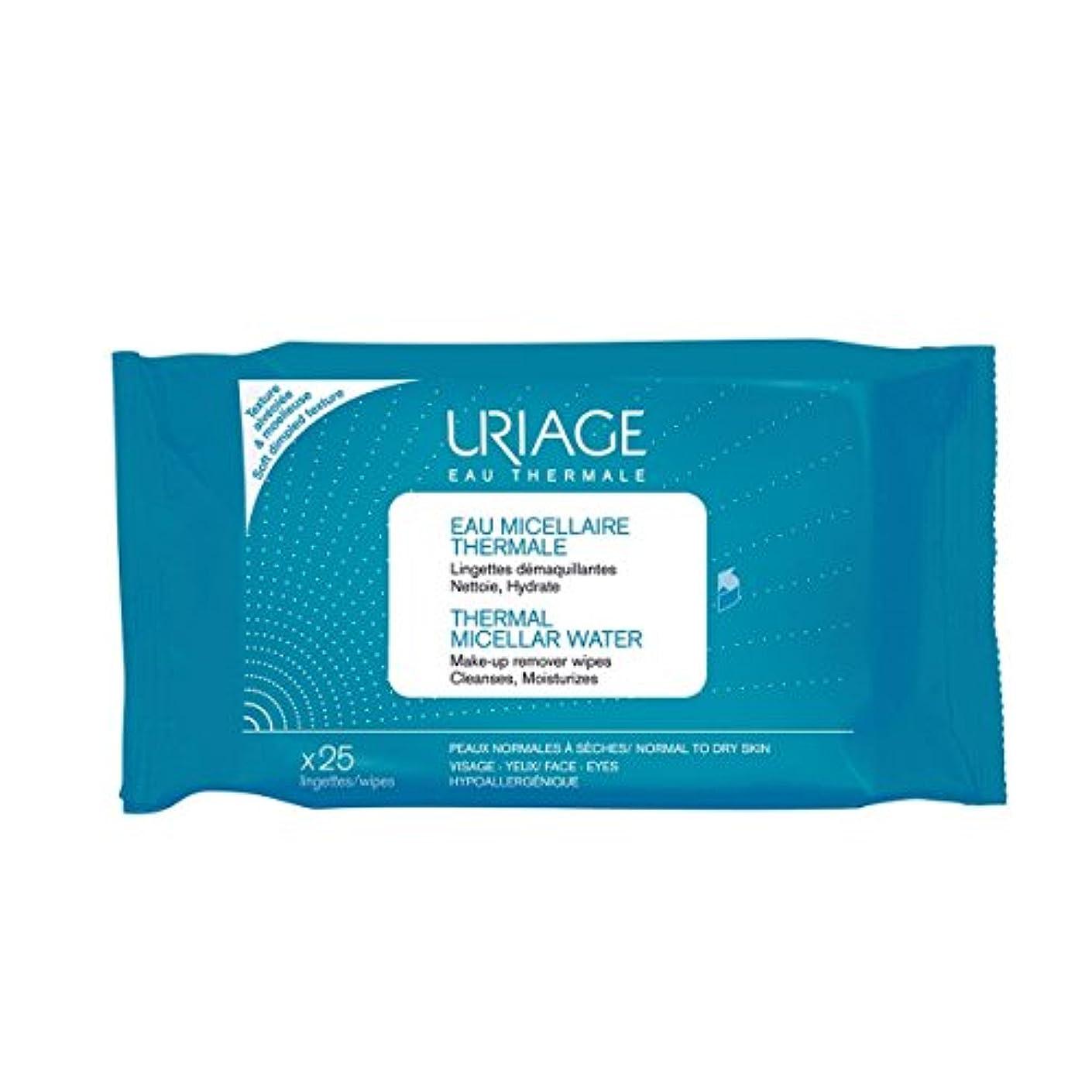 踊り子姿を消す埋めるUriage Thermal Micellar Water Make-up Remover Wipes X25 [並行輸入品]