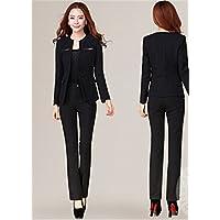 ae70755eafed6 レディーススーツセット 細身シルエットで、美スタイル魅せ♪2点ご購入W158 M(スーツ/パンツ)ブラック