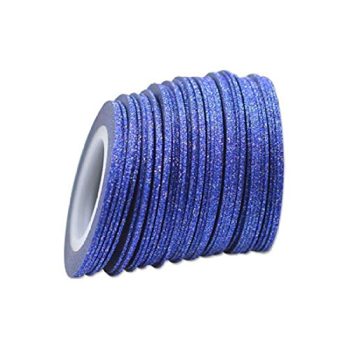テラスエアコン廃棄するSUKTI&XIAO ネイルステッカー 100ロール/セット1Mmネイルアートデコレーションフォイルストライピングテープラインオプションの色ロールスグリッターステッカーシルバー、ブルー