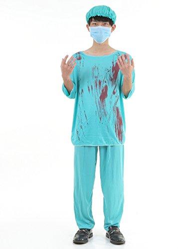 N-hilfe ゾンビ ドクター コスプレ メンズ 血まみれ 衣装 ハロウィン 医者 外科医