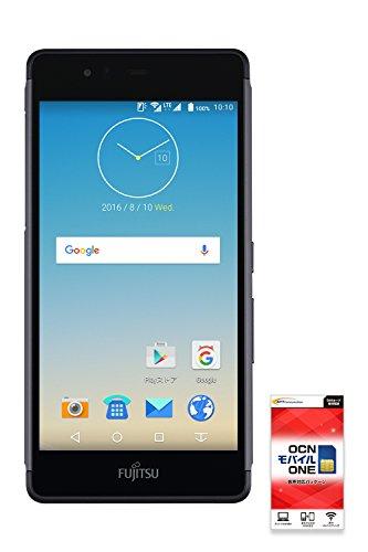 FUJITSU ARROWS M03 【OCNモバイルONE 音声通話対応SIM付】 (ブラック)