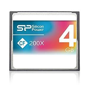 シリコンパワー コンパクトフラッシュカード 4GB 200倍速 CF 200X 永久保証 SP004GBCFC200V10