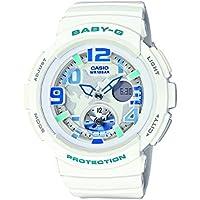 Casio Baby G Women's 44mm Dual Time BGA190 7B Watch White/Blue