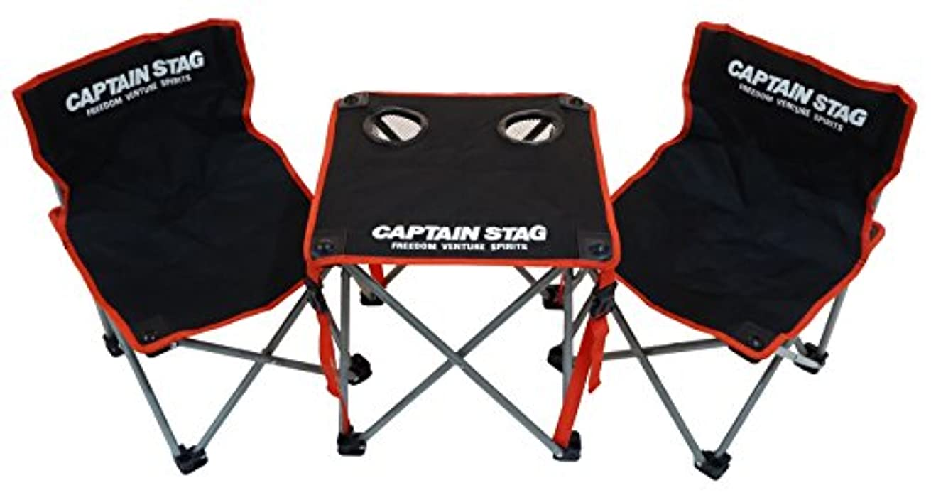 いろいろ土曜日津波キャプテンスタッグ(CAPTAIN STAG) キャンプ バーベキュー用 机 ジュール コンパクトテーブル チェア セットUC-1702
