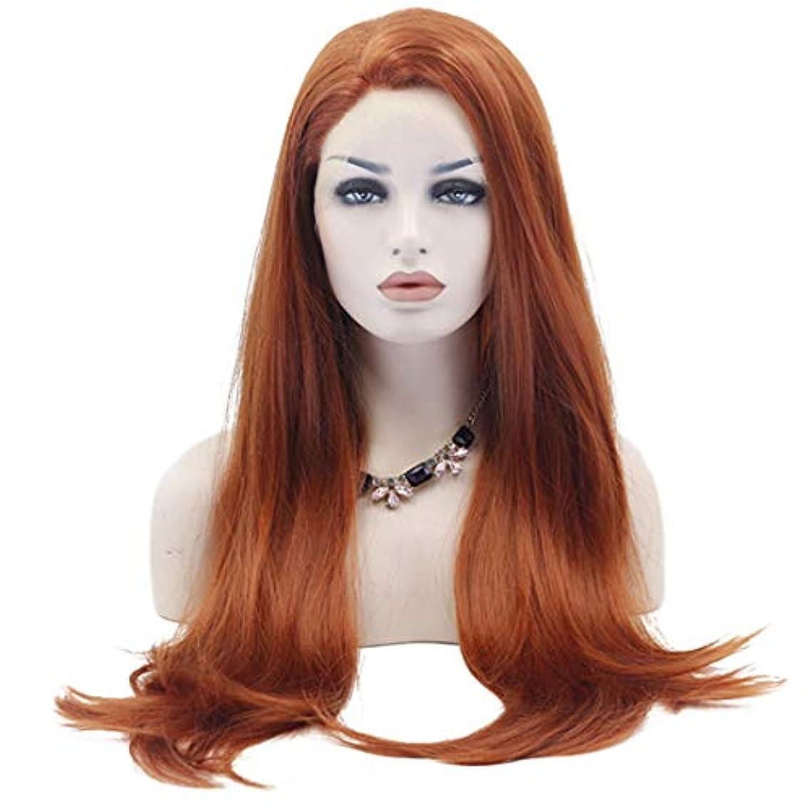 子犬申請中失望させるFuku つけ毛 コスプレ衣装ハロウィンパーティーのための前髪付きの長いかつら大きな波状の耐熱性合成ストレートヘア (色 : 写真の通り)