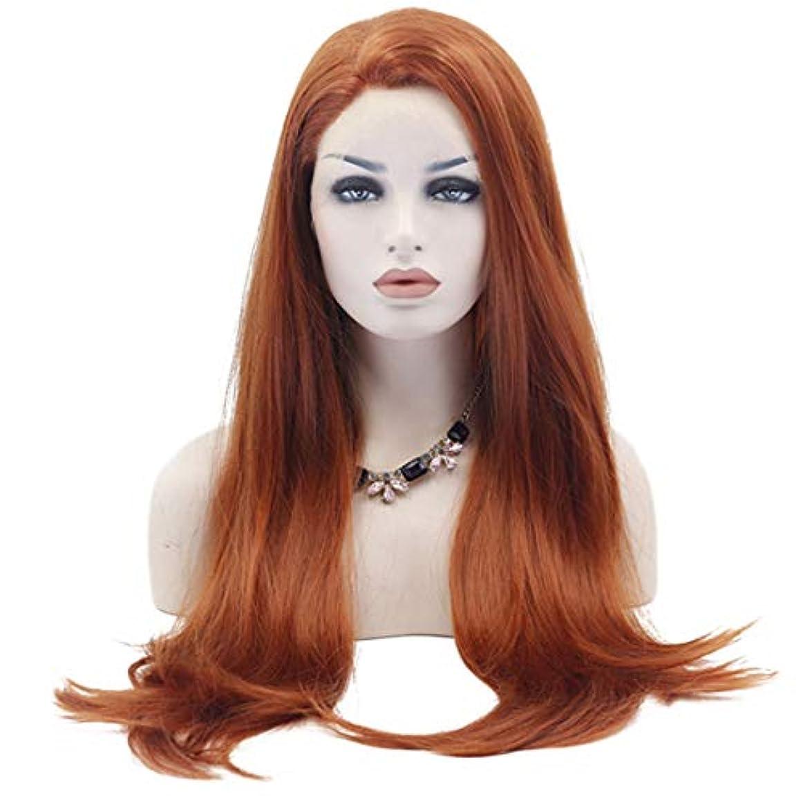 準備する教育するピットFuku つけ毛 コスプレ衣装ハロウィンパーティーのための前髪付きの長いかつら大きな波状の耐熱性合成ストレートヘア (色 : 写真の通り)