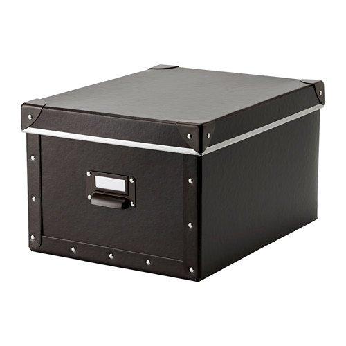 IKEA FJALLA(フィェラ) ふた付きボックス ブラウン 27x36x20 cm