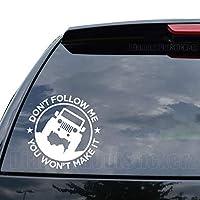 ないないFollow Me You Make Itジープデカールステッカー車トラックオートバイウィンドウiPadノートパソコン壁装飾 (18 in / 46 cm) Tall AUTO115-18BLK