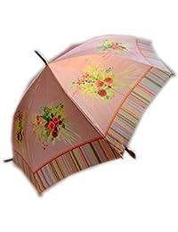 アトリエ21 レディース 日本製 おしゃれで上品な サテン生地 ブリティッシュガーデン大花柄 60cm ジャンプ傘