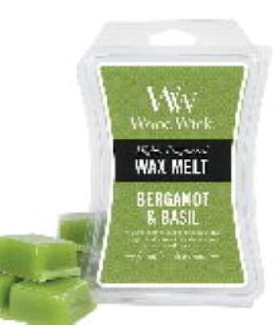 もろいお酢痛いベルガモット& Basil WoodWick砂時計3オンスワックスMelt