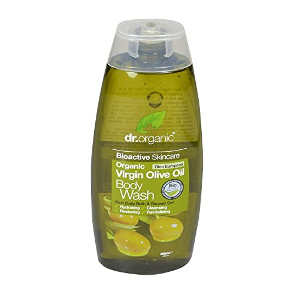 誰でも指連想Dr Organic Virgin Olive Oil Body Wash (Pack of 2) - Dr有機バージンオリーブオイルボディウォッシュ (x2) [並行輸入品]