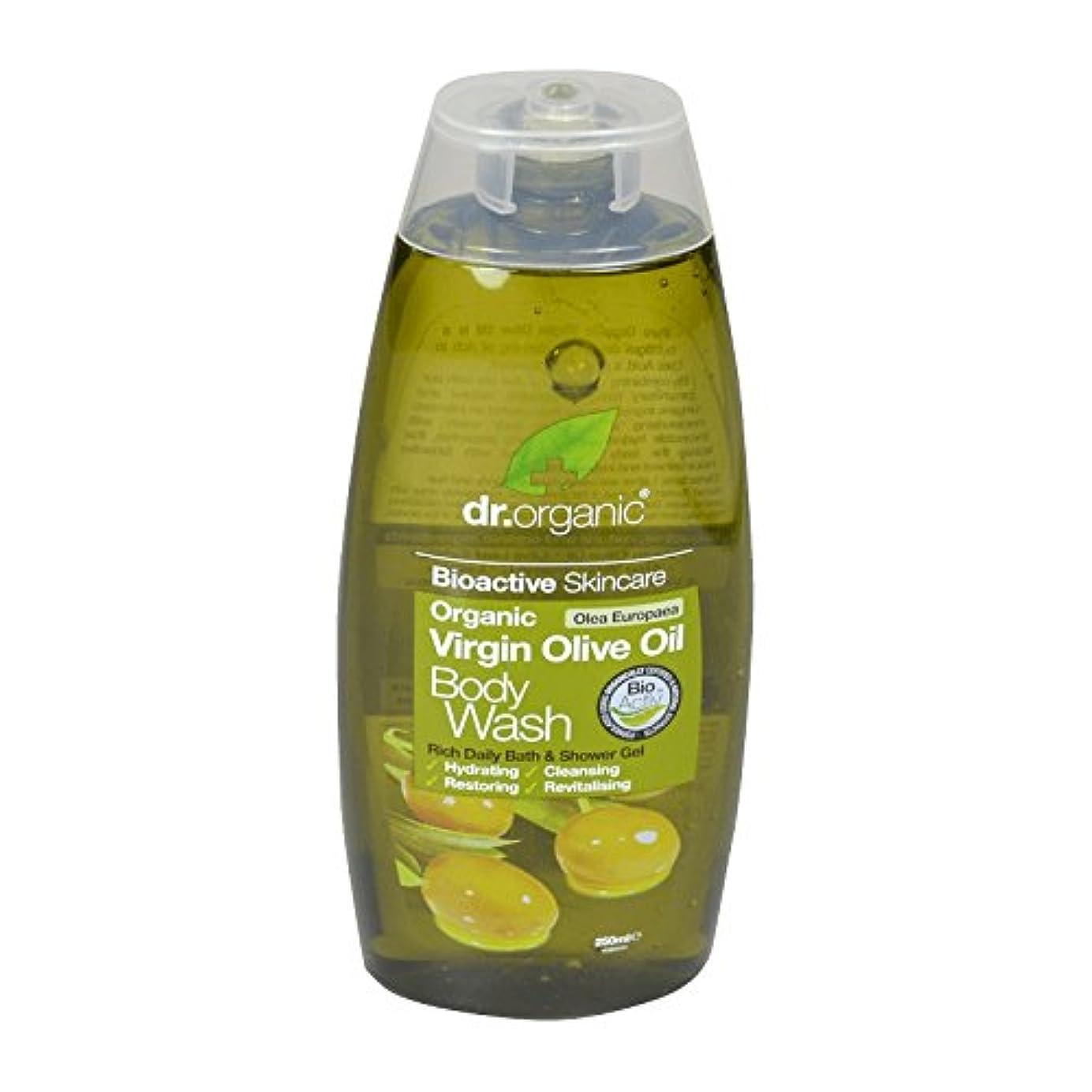 入力倒産焼くDr Organic Virgin Olive Oil Body Wash (Pack of 2) - Dr有機バージンオリーブオイルボディウォッシュ (x2) [並行輸入品]