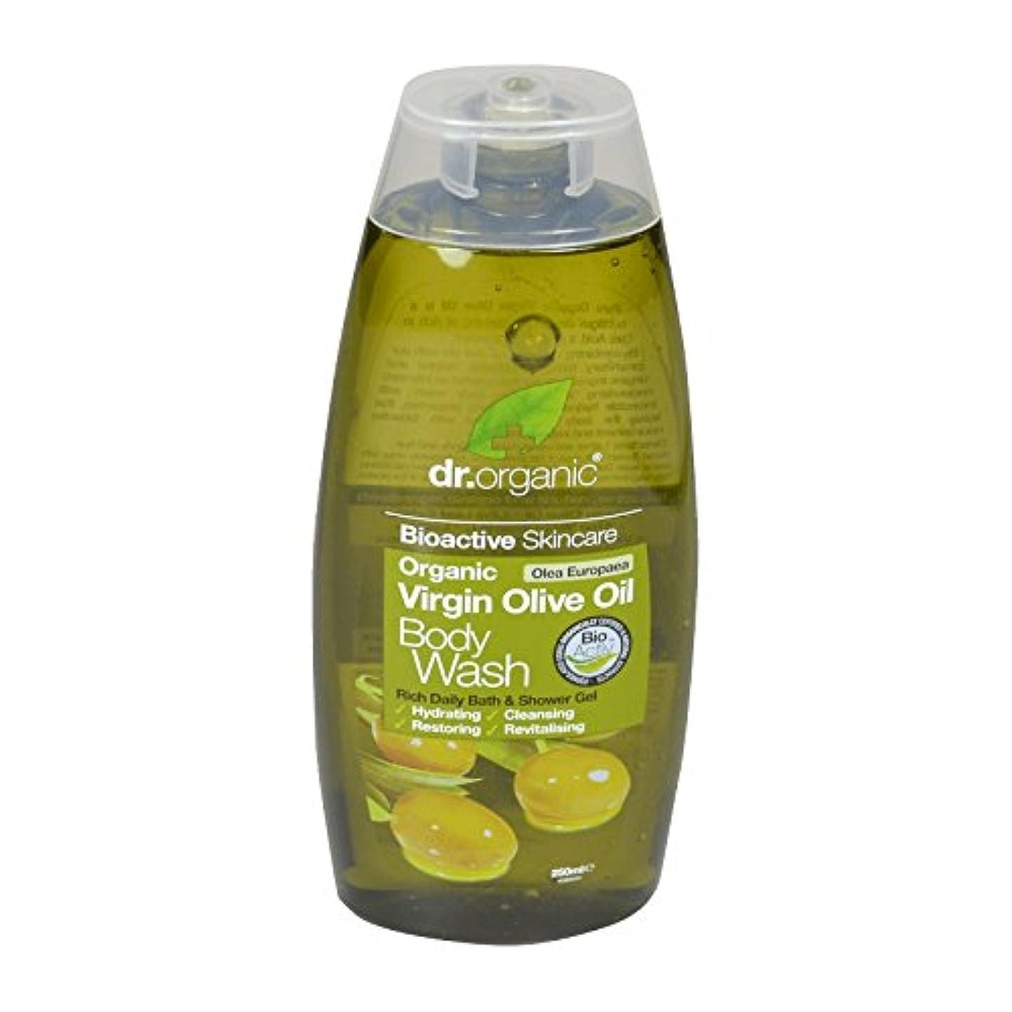 バドミントンミュート無視できるDr Organic Virgin Olive Oil Body Wash (Pack of 2) - Dr有機バージンオリーブオイルボディウォッシュ (x2) [並行輸入品]