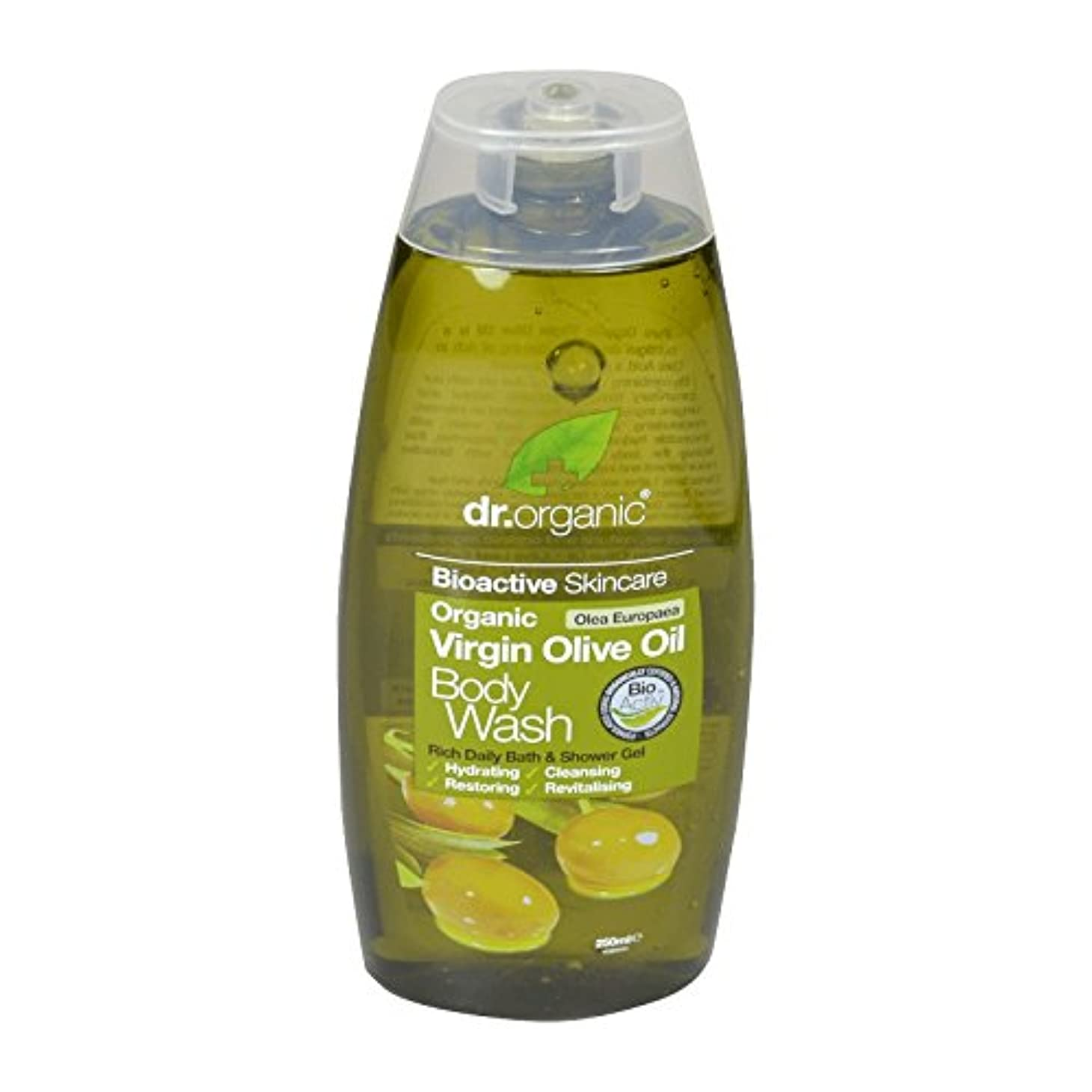 カフェストライプ常習者Dr有機バージンオリーブオイルボディウォッシュ - Dr Organic Virgin Olive Oil Body Wash (Dr Organic) [並行輸入品]