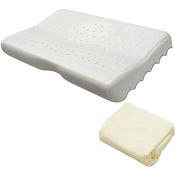 ottostyle.jp 頚椎支持型 低反発枕(硬さ・ふつう) クリーム 蒸れた空気が抜ける 洗えるカバー付 一体成型 モールド ウェーブ まくら もっちり いびき 健康 横向き